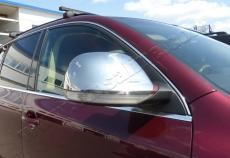 Накладки на зеркала 2008-2010 (2 шт, нерж) - Volkswagen Touareg