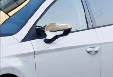 Накладки на зеркала (2 шт, нерж) - Seat Leon (2013+)