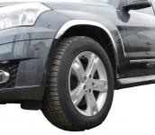 Накладки с нержавейки на колесные арки (4шт.) -  Mercedes GLK klass X204 (08-15)
