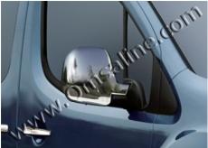 Накладки на зеркала (2 шт., нерж.) - Citroen Berlingo (2008+)