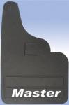 Брызговики прямые (2 шт, резина) - Renault Master (2004-2010)