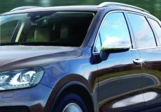 Накладки на зеркала (2 шт, нерж.) - Volkswagen Touareg (2010+)