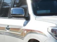 Накладки на зеркала 2008-2012 (2 шт, нерж) - Toyota LC 200