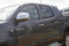 Накладки на зеркала (2 шт, нерж) - Toyota Hilux (2006+)