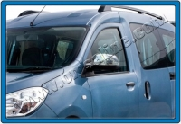 Накладки на зеркала (2 шт, нерж.) - Renault Dokker (2013)