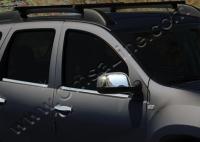 Накладки на зеркала (2 шт, нерж.) - Renault Lodgy (2013+)