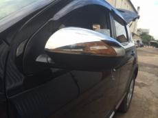 Накладки на зеркала (2 шт,нерж ) - Nissan Qashqai (2010-2014)