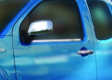 Накладки на зеркала (2 шт, нерж.) - Nissan Pathfinder (2006+)