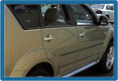 Накладки на ручки (4 шт., нерж.) - Mitsubishi Outlander (2001-2008)