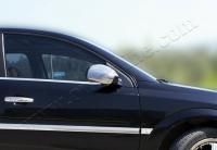 Накладки на зеркала (2 шт, нерж) - Opel Vectra C (2004+)