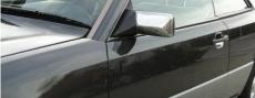 Накладки на зеркала (2 шт, нерж) - Mercedes E-klass W124