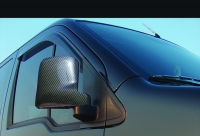 Накладки на зеркала под карбон (2 шт, пласт) - Ford Connect (2006-2009)