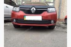 Зимняя нижняя накладка на решетку - Renault Logan/Sandero  (2013+)