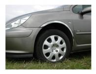 Накладки с нержавейки на колесные арки (4шт.) - Peugeot 307 (2001+)