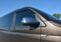 Накладки на зеркала (2 шт, хром) - Volkswagen T6 (2015+)