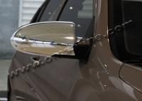 Накладки на зеркала (2 шт, пласт) - Hyundai Accent (2006-2011)