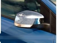 Накладки на зеркала (2 шт, пласт.) - Ford Focus II (2008-2011)