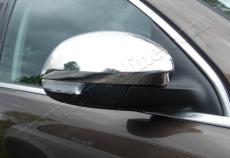 Накладки не зеркала (2 шт, нерж) - Skoda Yeti (2010+)