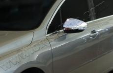 Накладки на зеркала (2 шт, нерж) - Peugeot 508 (2010+)