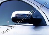 Накладки на зеркала (2 шт, нерж.) - Opel Corsa C (2000+)