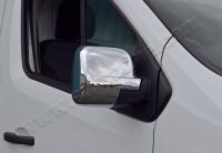 Накладки на зеркала (2 шт, пласт) - Opel Vivaro (2015+)