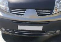 Накладки на решетку бампера (6 шт, нерж) - Renault Trafic (2001-2014)