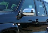 Накладки на зеркала (2 шт, нерж) - Toyota LС 120 Prado