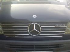 Накладки на решетку радиатора (1995-2000, 12 частей, нерж) - Mercedes Sprinter W901