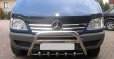 Накладки на решетку широкие (2002-2006, 6 частей, нерж) - Mercedes Sprinter W901