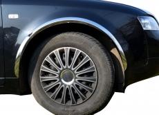 Накладки с нержавейки на колесные арки (4шт.) - Audi A4 (2000-2004)
