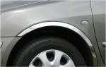 Накладки с нержавейки на колесные арки (4шт.) - Volkswagen POLO (2001-2005)