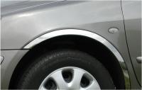 Накладки с нержавейки на колесные арки (4шт.) - Peugeot 207 (2006+)
