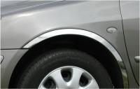 Накладки с нержавейки на колесные арки (4шт.) - Fiat Doblo III nuovo (2010-2014) короткая база 2/3/4 дверн.