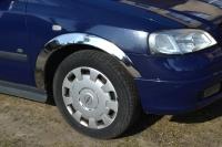Накладки с нержавейки на колесные арки (4шт.) - Opel ASTRA G CLASSIC (1998-2012)
