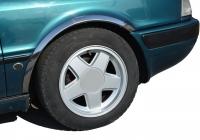Накладки с нержавейки на колесные арки (4шт.) - Audi 80 B4 (91-95)
