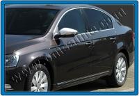 Накладки на зеркала (2 шт, нерж) - Volkswagen Passat СС (2008+)