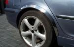 Накладки с нержавейки на колесные арки (4шт.) - BMW 3 СЕРИЯ E-46 (1998-2005)