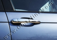 Накладки на ручки (4 шт, нерж) - BMW 5 серия E-60/61 (2003-2010)