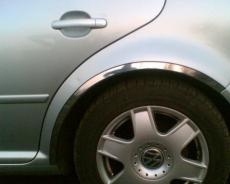 Накладки с нержавейки на колесные арки (4шт.) - Volkswagen BORA (1998-2004)