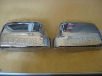 Накладки на зеркала вариант №2 (2 шт, пласт) - Ford Connect (2010-2014)