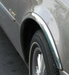 Накладки с нержавейки на колесные арки (4шт.) - Peugeot 4007 (2007-2013)