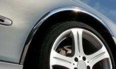 Накладки с нержавейки на колесные арки (4шт.) - Peugeot 301 (2012-2016)