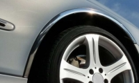 Накладки с нержавейки на колесные арки (4шт.) - Toyota COROLLA (2002-2007)