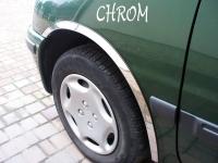 Накладки с нержавейки на колесные арки (4шт.) - Nissan ALMERA (1995-2000)