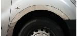 Накладки с нержавейки на колесные арки (4шт.) - Renault KANGOO (1998-2008)