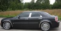 Накладки с нержавейки на колесные арки (4шт.) - Chrysler 300 C (04-10)