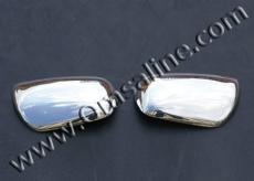 Накладки на зеркала (2 шт, нерж) - Toyota Rav 4 (2001-2005)