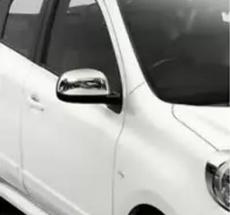 Накладки на зеркала (2 шт, нерж) - Nissan Micra (2011+)
