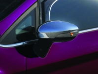 Накладки на зеркала (2 шт, пласт) - Ford Fiesta (2008+)