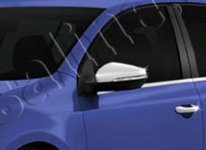 Накладки на зеркала (2 шт, нерж) - Volkswagen Golf 7
